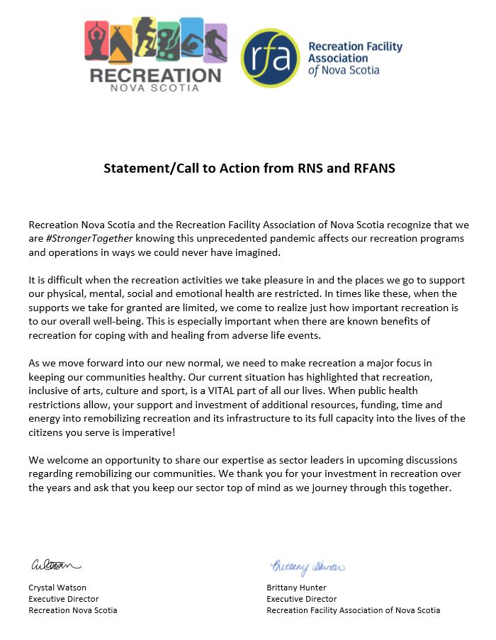 Call to Action from RNS and RFANS